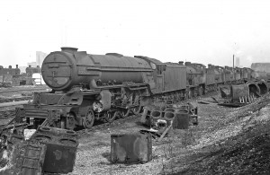CRA0392 CI A2-2 No. 60501 Cock o' the North on Doncaster Works scrap line May 1960