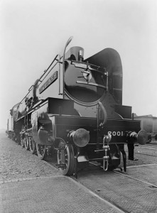 P2 class 2-8-2 locomotive number 2001 Cock o' the North at Doncaster works, 11 July 1934