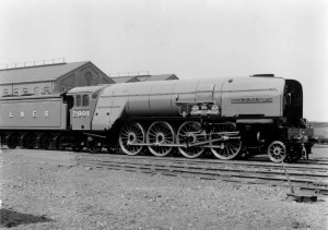 P2 class 2-8-2 locomotive number 2001 Cock o' the North at Doncaster works, 12 May 1934